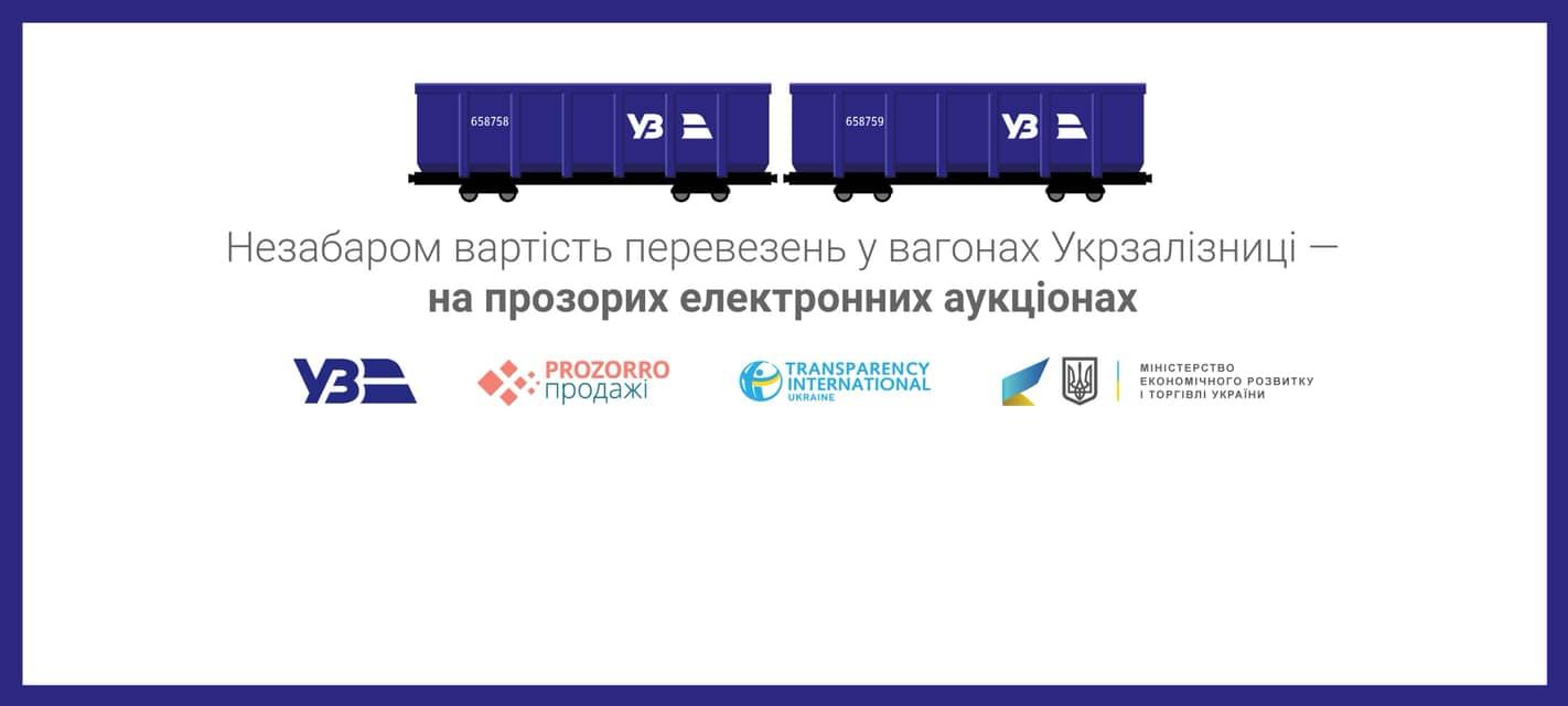 Укрзалізниця» здаватиме вагони в оренду через ProZorro.Продажі