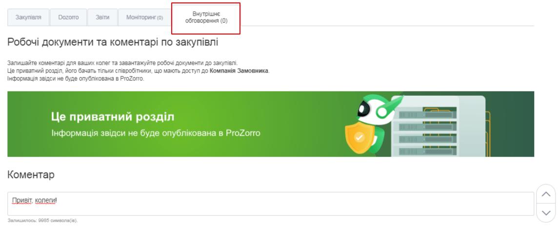 Приватний чат для спілкування з колегами_zakupki.prom.ua