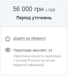 Дізнавайтесь орієнтовну кількість переглядів вашої закупівлі_Zakupki.Prom.ua